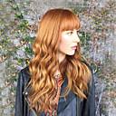 olcso Emberi hajból készült parókák-Emberi hajszelet nélküli parókák Emberi haj Hullámos Hosszú Géppel készített Paróka Női