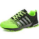 זול נעלי בד ומוקסינים לגברים-בגדי ריקוד גברים טול קיץ / סתיו נוחות נעלי אתלטיקה ריצה אדום / ירוק / כחול