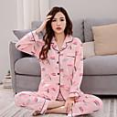 baratos Roupão & Camisola-Mulheres Decote V Pijamas - Estampado, Letra