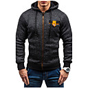 cheap Sensors-Men's Street chic Long Sleeve Hoodie - Solid Colored Hooded / Sports