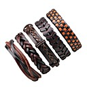 cheap Nail Stamping-Men's / Women's Wrap Bracelet / Leather Bracelet - Leather Rock Bracelet Brown For Halloween / Going out