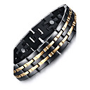 cheap Men's Bracelets-Men's Chain Bracelet / Bangles / Magnetic Bracelet - Titanium Steel Natural, Fashion Bracelet Black For Gift / Daily