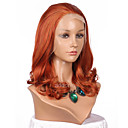 cheap Synthetic Lace Wigs-Synthetic Lace Front Wig Wavy Synthetic Hair Natural Hairline Red Wig Women's Medium Length Lace Front Wig