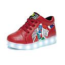 זול סטים של ביגוד לבנים-בנים נעליים PU אביב קיץ נוחות / חדשני / נעליים זוהרות שטוחות שרוכים ל לבן / אדום
