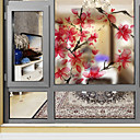 abordables Stickers de Ventana-Ventana de película y pegatinas Decoración Floral Art Decó PVC / Vinilo Adhesivo para Ventana / Salón