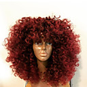 cheap Christmas Decorations-Human Hair Lace Front Wig Brazilian Hair Kinky Curly Wig Layered Haircut / With Baby Hair 130% Middle Part Bob / Natural Hairline / African American Wig Women's Short / Medium Length / Long Human