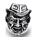 billige Herresmykker-Herre Geometrisk Knokering - Rustfritt Stål Hodeskalle Personalisert, Punk 8 / 9 / 10 / 11 / 12 Sølv Til Halloween Gate