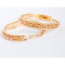 זול סטים של תכשיטים-בגדי ריקוד נשים עגילי טיפה טבעות חישוקים מותאם אישית עגילים תכשיטים זהב עבור חתונה Party יומי