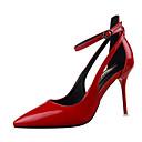 رخيصةأون أحذية نسائية-للمرأة أحذية PU ربيع / خريف ارتفاع كلاسيكي كعوب أسود / رمادي / أحمر