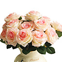 abordables Flores Artificiales-Flores Artificiales 1 Rama Estilo moderno Rosas Flor de Mesa