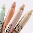 cheap Primer-4 Colors Balm Pressed powder Concealer / Contour Dry / Matte / Mineral Concealer Women / Face Alcohol Free Makeup Cosmetic
