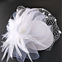 cheap Party Supplies-Net Fascinators / Hats / Headwear with Floral 1pc Wedding / Special Occasion Headpiece