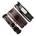 cheap Men's Bracelets-Men's / Women's Wrap Bracelet / Leather Bracelet - Leather Guitar Bracelet Coffee For Gift / Going out