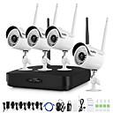 Χαμηλού Κόστους Ασύρματο Σύστημα CCTV-ασύρματο σύστημα ασφαλείας sannce® 1080p hd με κάμερες 4pcs