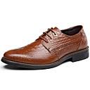 baratos Oxfords Masculinos-Homens Sapatos formais Couro Outono / Inverno Oxfords Preto / Marron / Azul / Festas & Noite