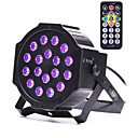 cheap Walkie Talkies-U'King ZQ-B194B-YK 18*1W LEDs Purple Color Auto DMX Sound Activated Par Stage Lighting for Disco Party Club KTV Wedding