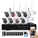 cheap Bakeware-YanSe® Plug and Play 8CH Wireless NVR Kits 960P Waterproof IR Night Vision Security WIFI IP Camera 36LEDs Surveillance CCTV DVR System