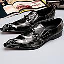 ieftine Saboți și Mocasini Bărbați-Bărbați Pantofi formali Nappa Leather Toamnă / Iarnă Oxfords Negru / Party & Seară