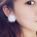 cheap Earrings-Women's Stud Earrings - Ball Cute Pink / Wine / Light Brown For Christmas / Daily
