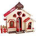 tanie Modele i zestawy modeli-Zabawki 3D Drewniane puzzle Model Bina Kitleri Domy Moda Dom Dzieci Nowy design Gorąca wyprzedaż Drewno 1 pcs Klasyczny Nowoczesny Moda Dla dzieci Dla chłopców Dla dziewczynek Zabawki Prezent