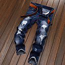 tanie Adidasy męskie-Męskie Bawełna Jeansy / Typu Chino Spodnie - Podarte, Solidne kolory / Weekend