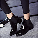 preiswerte Damen Stiefel-Damen Schuhe Lackleder Leder Frühling Herbst Komfort Stiefel für Normal Schwarz Burgund