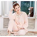 povoljno Slavine za bide-Žene Pidžama, Jednobojni Kašmir Srednje Blushing Pink Bež