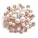 preiswerte Modische Broschen-Damen Synthetischer Diamant Broschen - Künstliche Perle Blume Klassisch, Modisch Brosche Gold Für Alltag / Verabredung