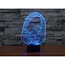 billige LED-lyspærer-1set 3D nattlys Usb Batteri Fargeskiftende Dekorativ