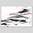 cheap Animal Paintings-Oil Painting Hand Painted - Abstract Abstract Canvas