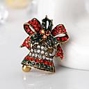 abordables Artículos para Fiestas de Navidad-Mujer Broche - Broche Dorado / Plata Para Navidad / Regalo