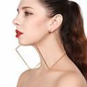 preiswerte Haarzöpfe-Damen Geometrisch Tropfen-Ohrringe / Kreolen - überdimensional Gold / Silber Für Party / Strasse
