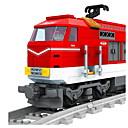 baratos Trens de brinquedo e conjuntos de trem-AUSINI Blocos de Construir 588 pcs Natureza Morta Veículos Cauda Clássico Chique & Moderno Fashion Trem Para Meninos Para Meninas Brinquedos Dom