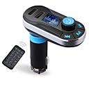 billige Bluetooth/håndfritt bilsett-bluetooth mp3-spiller handsfree bilmonteringssett aux handsfree FM-sender med dual usb mp3 sd lcd bil lader sigarettenner
