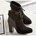 cheap Openers-Women's Shoes Nappa Leather / Cowhide Fall / Winter Fashion Boots / Combat Boots Boots Chunky Heel Booties / Ankle Boots Black / Beige