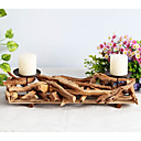 cheap Cake Toppers-Modern / Contemporary Wood Candle Holders Tealight / Candelabra 1pc, Candle / Candle Holder
