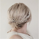 cheap Party Headpieces-Imitation Pearl / Alloy Hair Combs / Headwear with Floral 1pc Wedding / Special Occasion / Party / Evening Headpiece