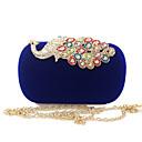 cheap Clutches & Evening Bags-Women's Bags Velvet Evening Bag Buttons / Crystals Purple / Fuchsia / Royal Blue