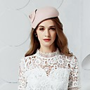 cheap Party Headpieces-Wool Hats / Headwear with Floral 1pc Wedding / Special Occasion / Party / Evening Headpiece