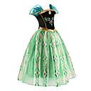 abordables Robes pour Filles-Déguisements Princesse Conte de Fée Fille Costume de Cosplay Cosplay de Film Mousseline de soie Vert Les costumes