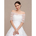 cheap Wedding Wraps-Lace / Tulle Wedding / Party / Evening Women's Wrap With Appliques / Lace Capelets