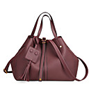 cheap Shoulder Bags-Women's Bags PU(Polyurethane) Shoulder Bag Zipper Black / Wine / Khaki