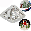cheap Bakeware-Silicone Christmas Tree Cake Mold Pine Tree Chocolate Cookies Mould Kitchen Baking Tools