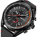 cheap Dance Accessories-Men's Sport Watch / Wrist Watch Japanese Calendar / date / day / Stopwatch / Noctilucent Genuine Leather Band Luxury / Casual / Fashion Black / Blue / Brown