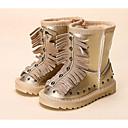 olcso Kislány cipők-Lány Cipő Bőrutánzat Ősz / Tél Kényelmes / Hócipők Csizmák mert Arany / Fekete / Ezüst