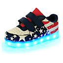 cheap Boys' Shoes-Boys' Shoes Leather Spring Comfort / Novelty / Light Up Shoes Sneakers Magic Tape / LED for Blue