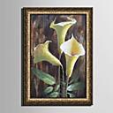 tanie Sztuka oprawiona-Oprawione płótno Zestaw w oprawie Martwa natura Kwiatowy/Roślinny Postarzane Wall Art, PVC (polichlorek winylu) Materiał z ramą Dekoracja