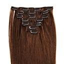 povoljno Perike s ljudskom kosom-Febay S kopčom Proširenja ljudske kose Klasika Ljudska kosa Ekstenzije od ljudske kose Žene Srednje smeđa