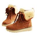 halpa Naisten tasapohjakengät-Naisten Kengät Fleece Kevät Syksy Comfort Talvisaappaat Turkisvuoraus Bootsit Pyöreä kärkinen Säärisaappaat Solmittavat varten