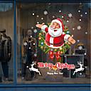 abordables Textiles para el Hogar Navideño-Art Decó Navidad Adhesivo para Ventana, PVC/Vinilo Material decoración de la ventana Salón